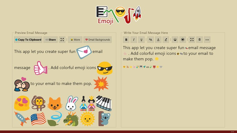 Emoji screen shot 4