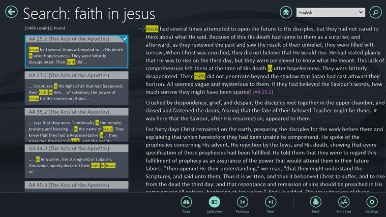 EGW Writings screen shot 6