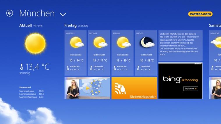 wetter.com Screenshot 2
