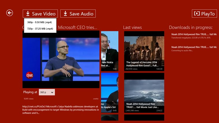 YouTube Downloader Plus RT screen shot 6