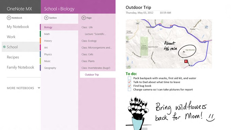 OneNote MX screen shot 0