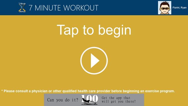 7 Minute Workout screen shot 0