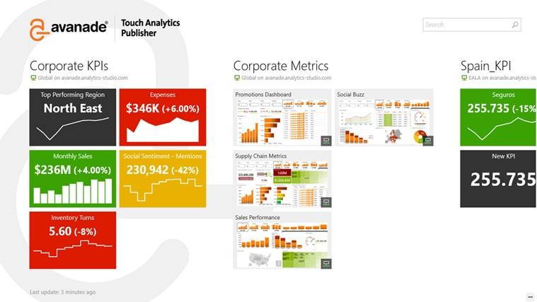 Avanade Touch Analytics Publisher screen shot 0