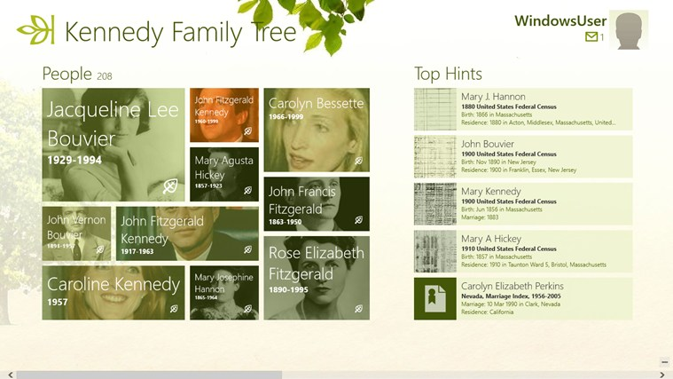 Ancestry screen shot 0
