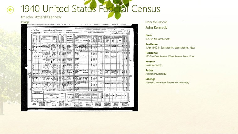 Ancestry screen shot 2