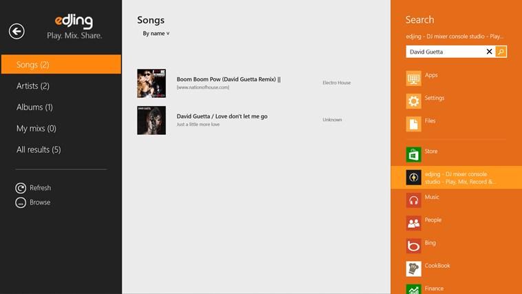 edjing - DJ mixer console studio - Play, Mix, Record & Share your sound! screen shot 2