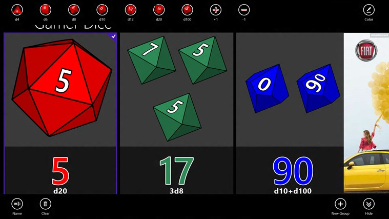 Gamer Dice Free screen shot 0