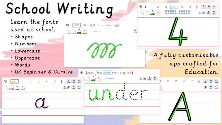 School Writing screen shot 0