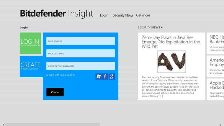 Bitdefender Insight screen shot 0