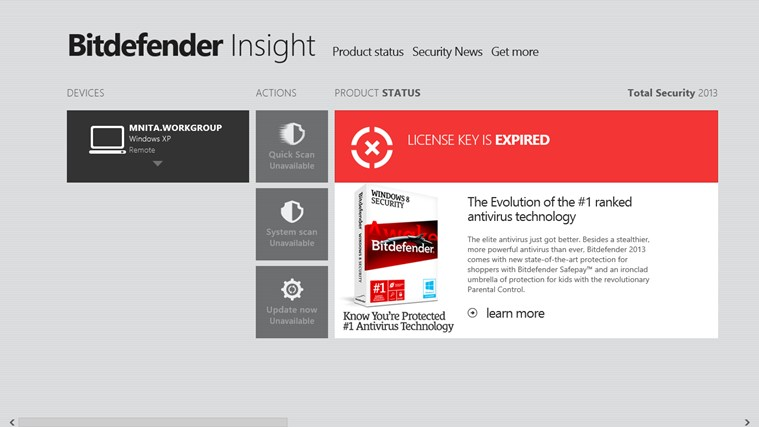 Bitdefender Insight screen shot 6