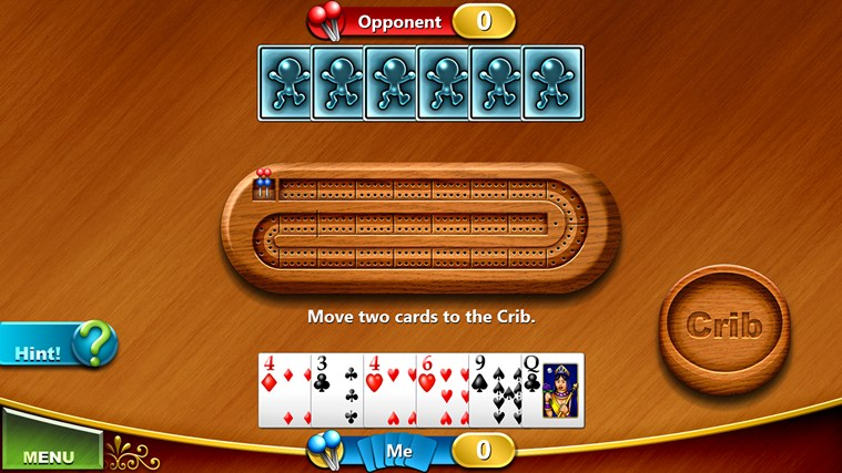 Cribbage screen shot 2