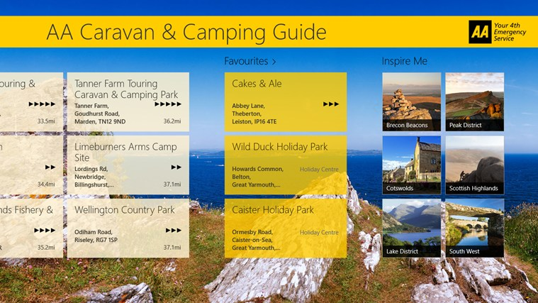 AA Caravan & Camping Guide screen shot 2