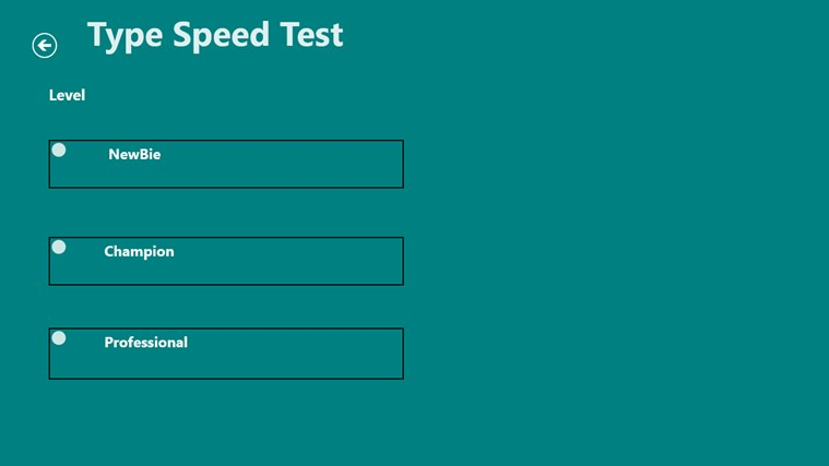 Type Speed Test screen shot 2