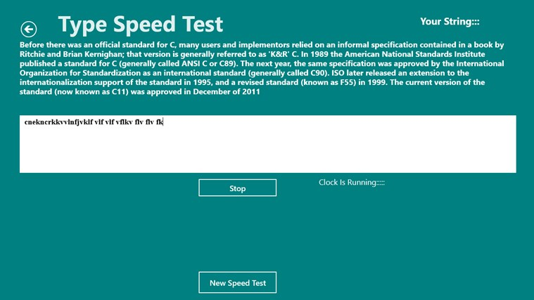 Type Speed Test screen shot 4