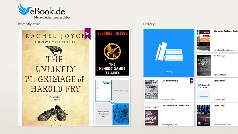 eBook.de READER snimka zaslona 0