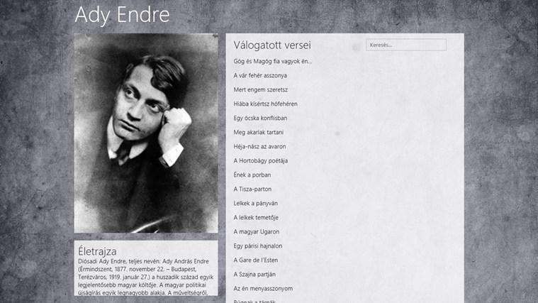 Ady Endre válogatott versei – 0. képernyőkép