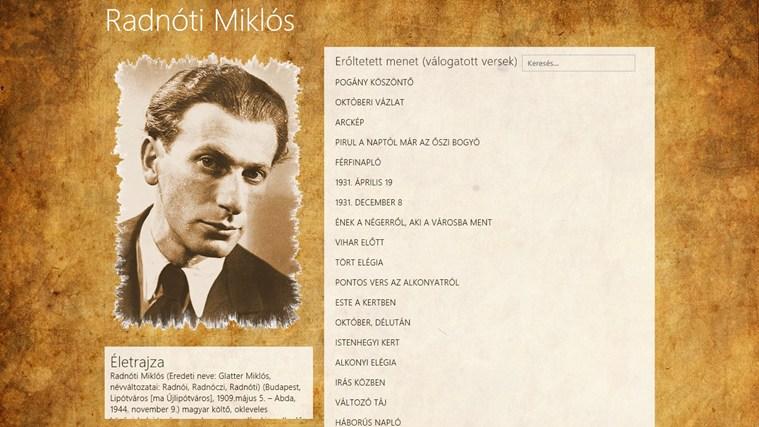Radnóti Miklós válogatott versei – 0. képernyőkép