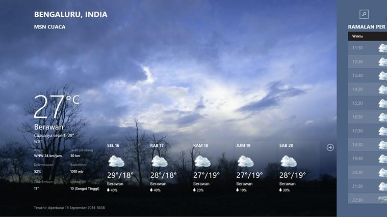 MSN Cuaca screenshot 0