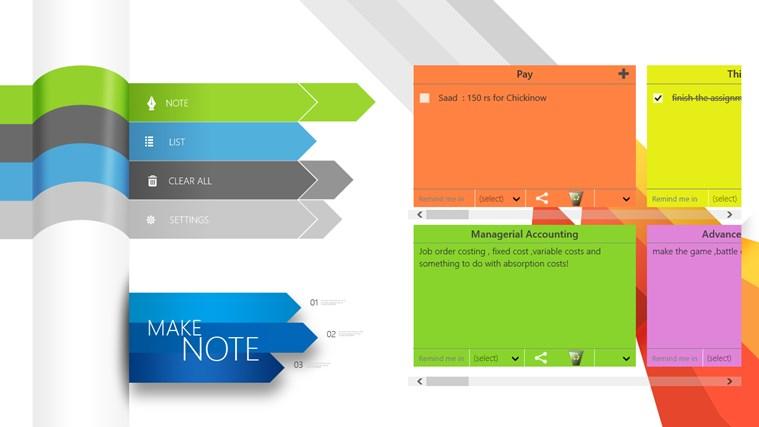Make Note screen shot 2