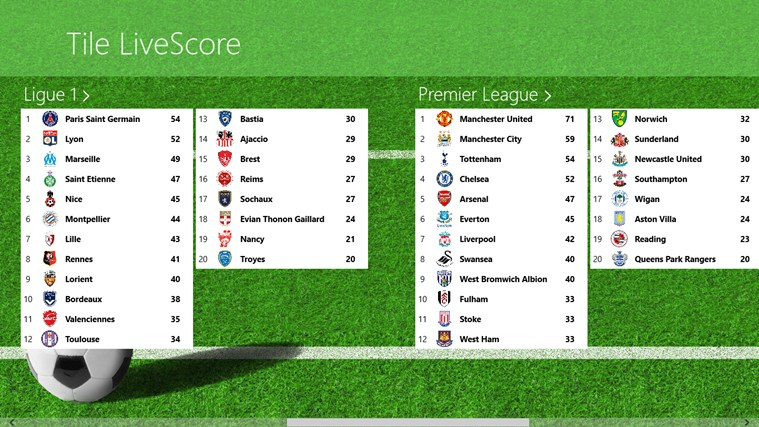 Tile LiveScore screen shot 0