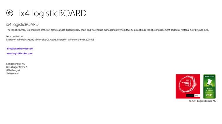 ix4 logisticBOARD screen shot 4