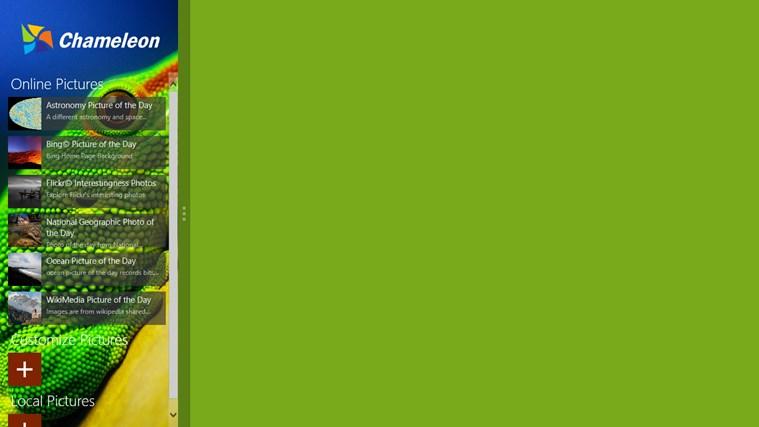 Chameleon screen shot 6