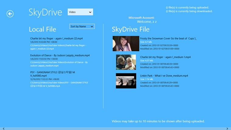 SkyDrive integration/ sync