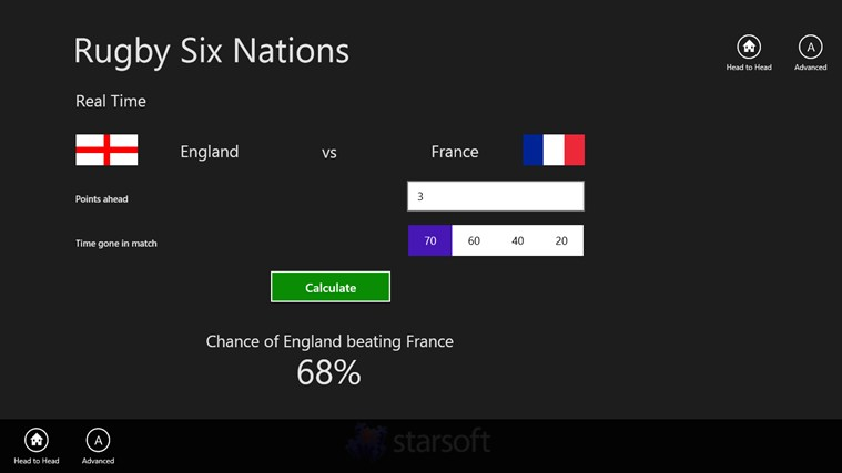 Rugby Six Nations screen shot 2