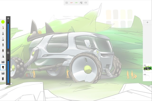Autodesk® SketchBook® for Windows Tablet screen shot 2