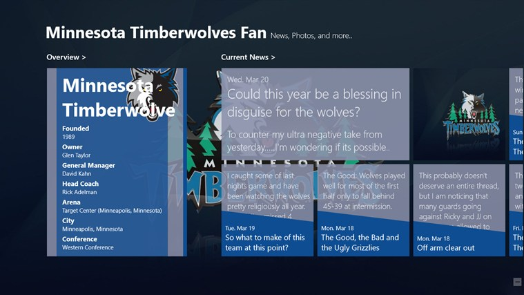 Minnesota Timberwolves Fan App screen shot 0