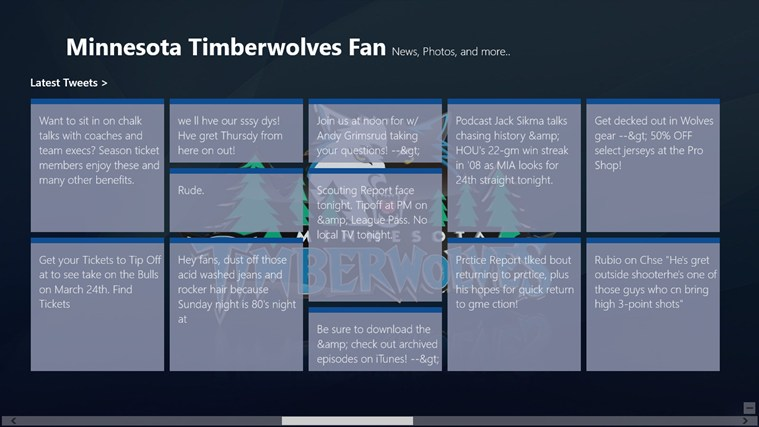Minnesota Timberwolves Fan App screen shot 2