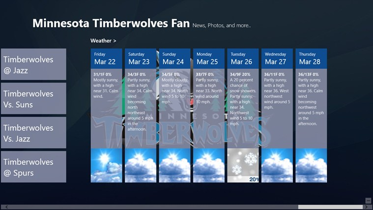 Minnesota Timberwolves Fan App screen shot 4