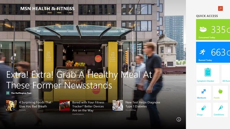MSN Health & Fitness screen shot 0