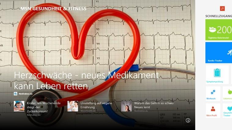 MSN Gesundheit & Fitness Screenshot 0