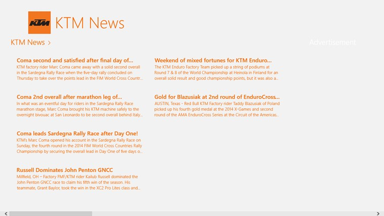 KTM News screen shot 0