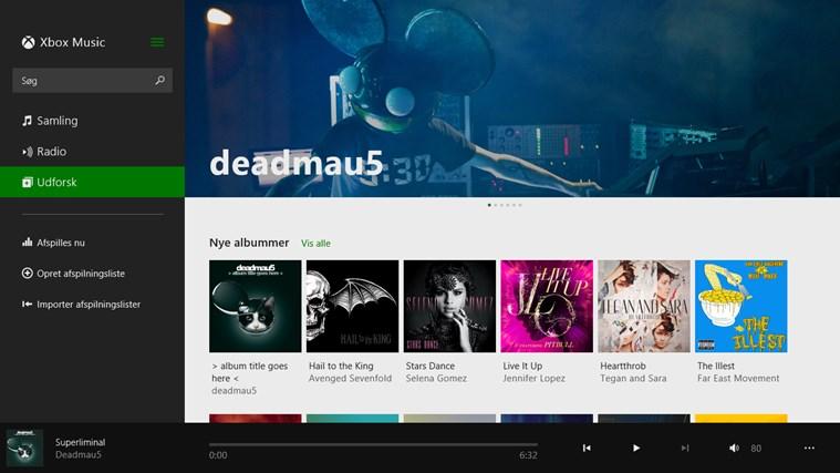 Musik skærmbillede 2