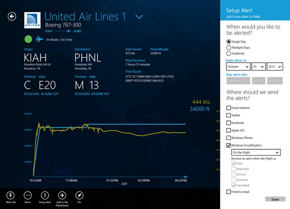 FlightAware screen shot 0