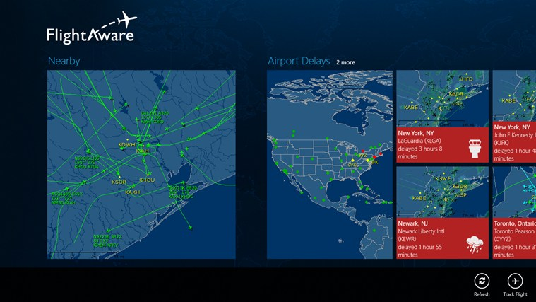 FlightAware screen shot 2