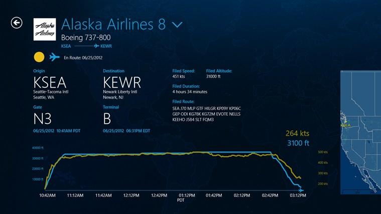 FlightAware screen shot 4