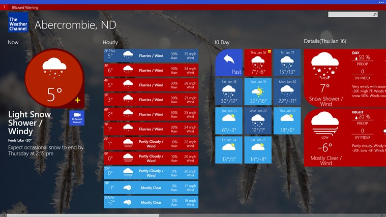 The Weather Channel screen shot 2