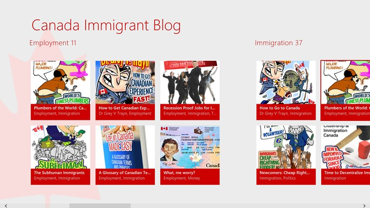 Canada Immigrant Blog screen shot 0