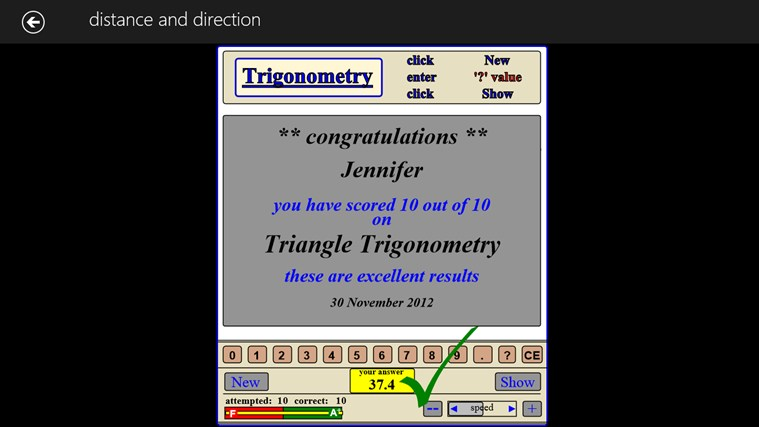 MATH - trigonometry expert screen shot 2