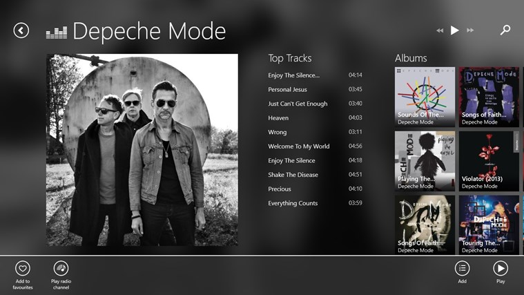 Deezer screen shot 2