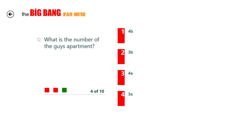 The Big Bang Fan Quiz screen shot 0