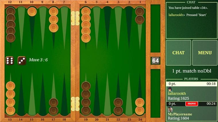 internet backgammon microsoft