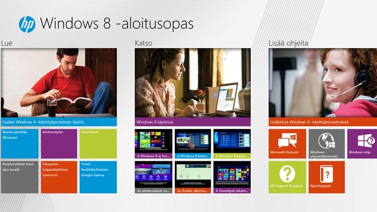 Windows 8 -aloitusopas näyttökuva 0