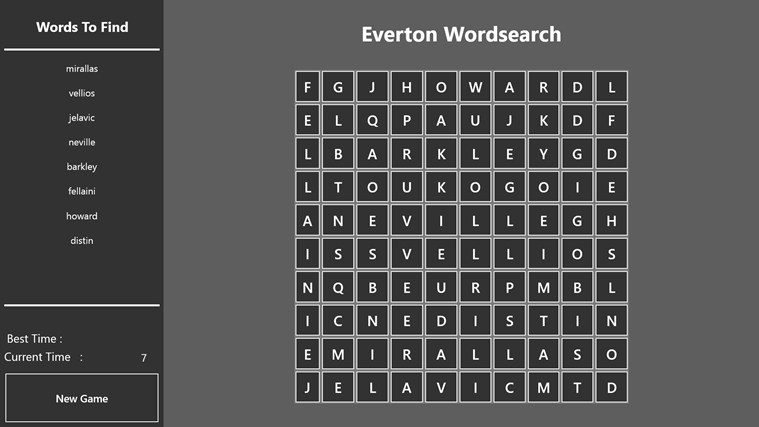 Everton Wordsearch screen shot 0