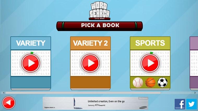 Word Search - Little Books screen shot 2