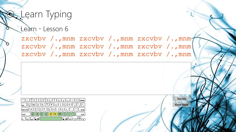 Typing Lessons screen shot 2