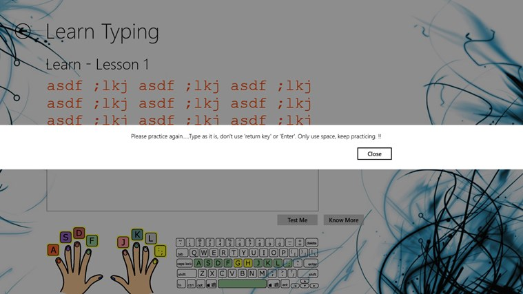 Typing Lessons screen shot 4
